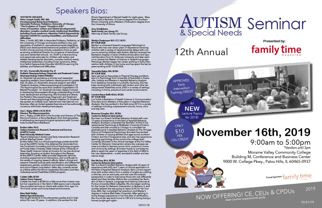 Autism & Special Needs Seminar Speakers